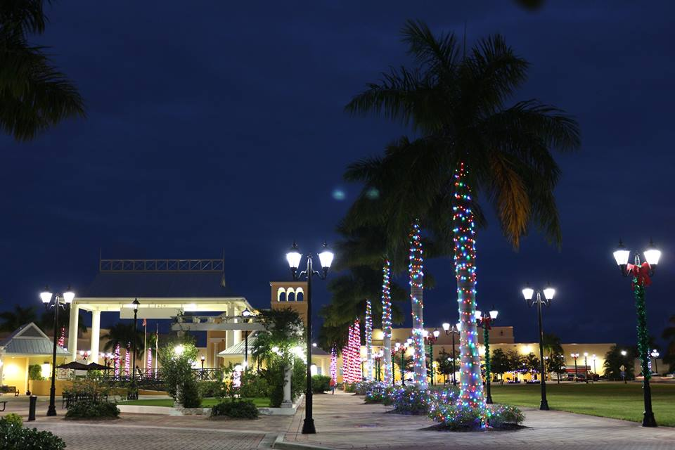 outdoor space in Port St. Lucie, Florida at night