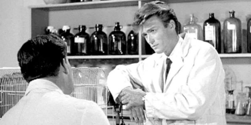 Clint Eastwood is dressed as a scientist in Revenge of the Creature.