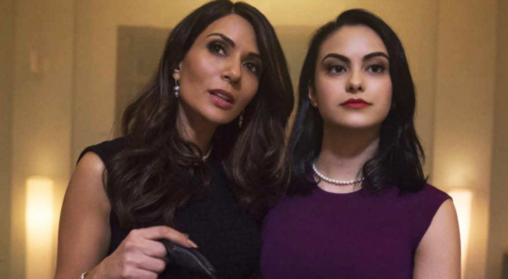 Marison Nichols and Camila Mendes as Hermione and Veronica Lodge in The CW's Riverdale