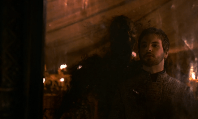 Renly dies at the hand of Melisandre's shadow baby in a scene from the third season of 'Game of Thrones'