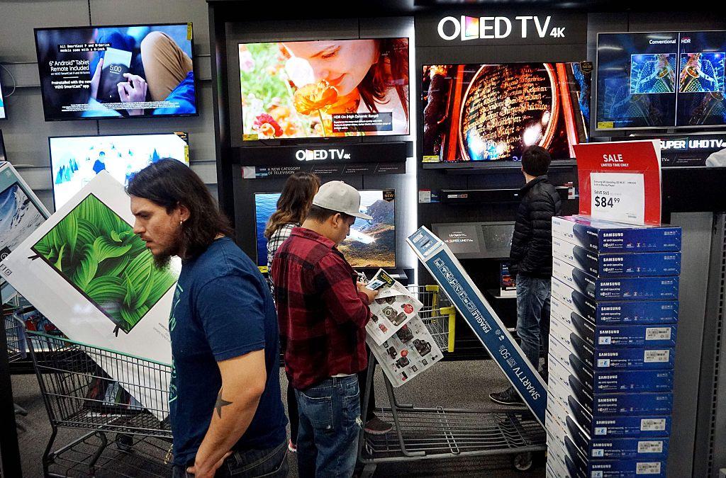 shopping for TVs