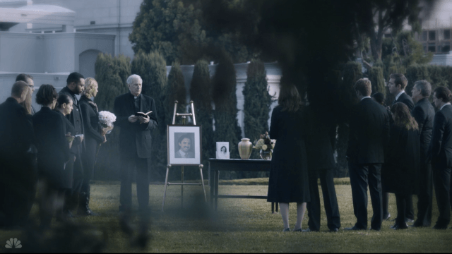A flashback to Jack Pearson's funeral from the first season of 'This Is Us'