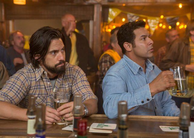 Jack and Miguel watching the Superbowl in the 'This is Us' episode