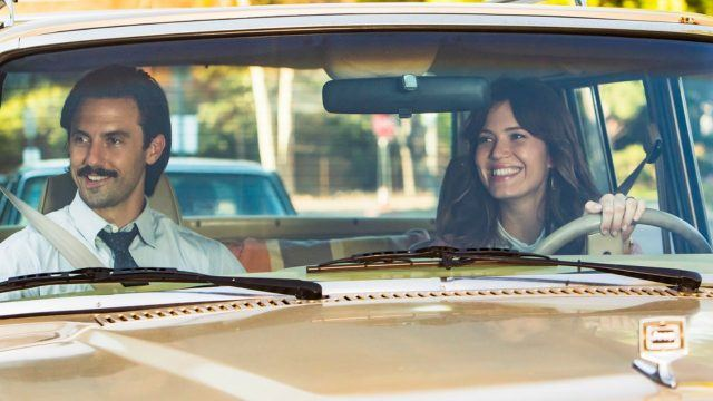 Rebecca driving Jack in the car in a scene from the 'This Is Us' episode 'Career Days'
