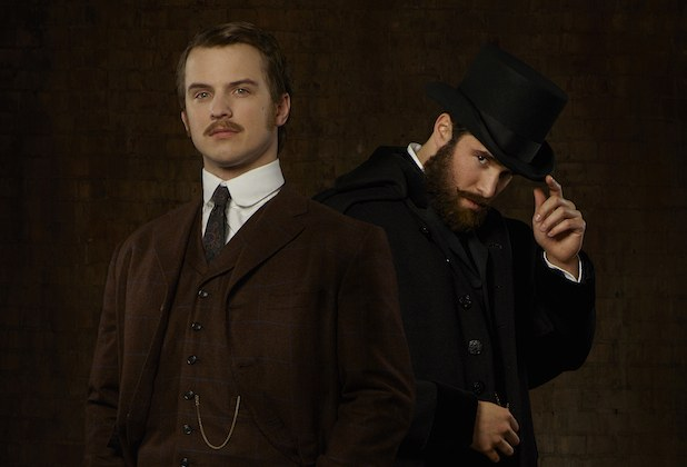 "ABC's ""Time After Time"" stars Freddie Stroma as H.G. Wells and Josh Bowman as John Stevenson."