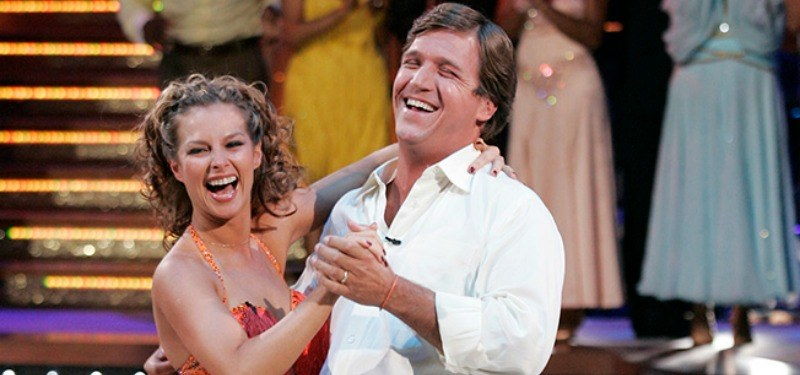 Tucker Carlson and Elana Grinenko dancing on Dancing With the Stars.