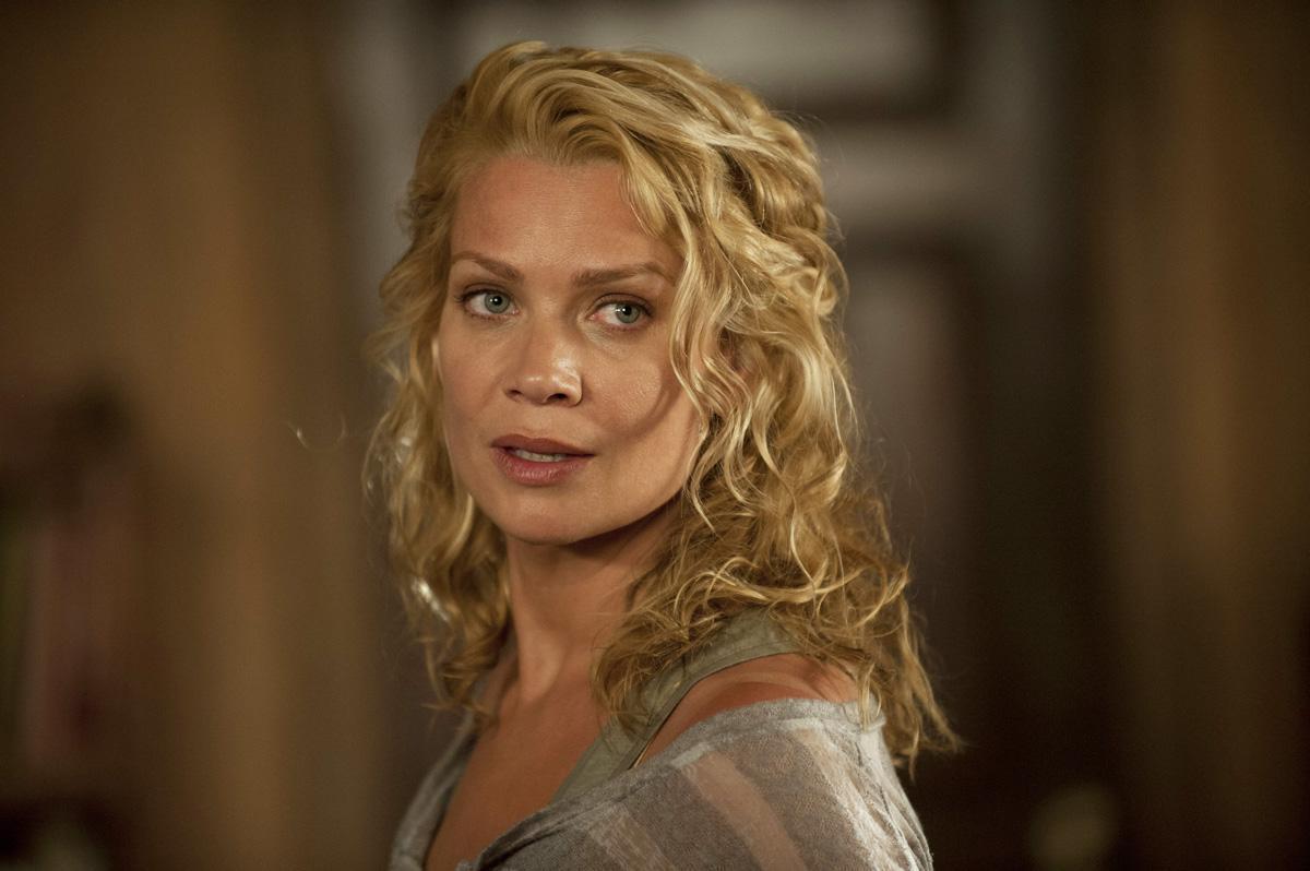 Andrea looks over her shoulder