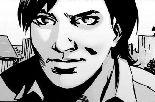 A panel from 'The Walking Dead' comics shows Maggie Greene.