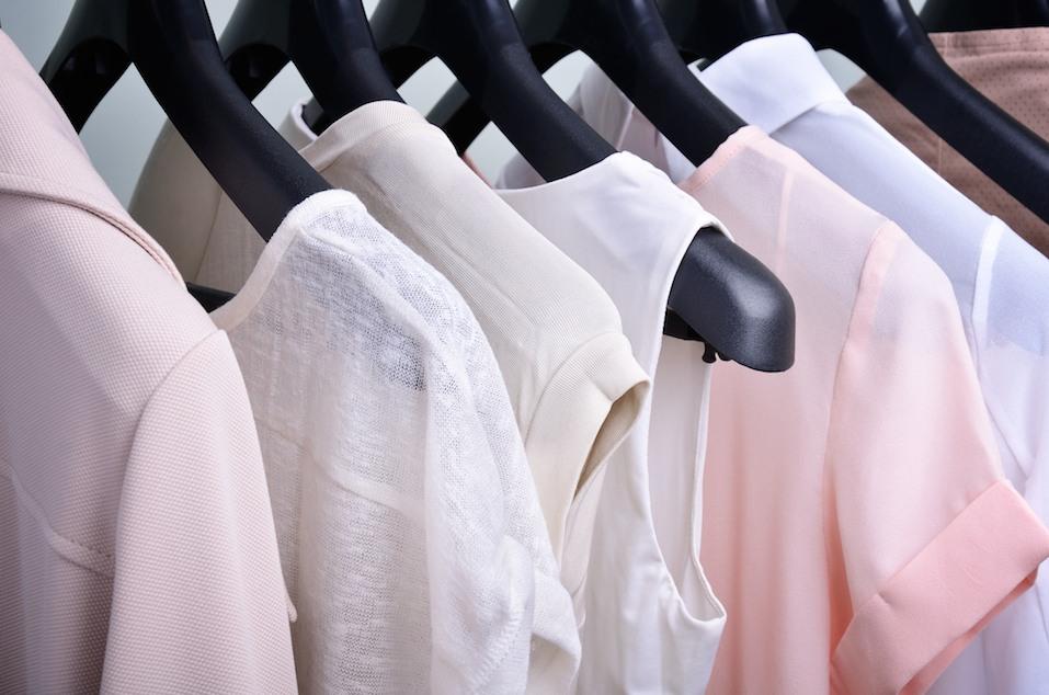 women's clothing on hangers