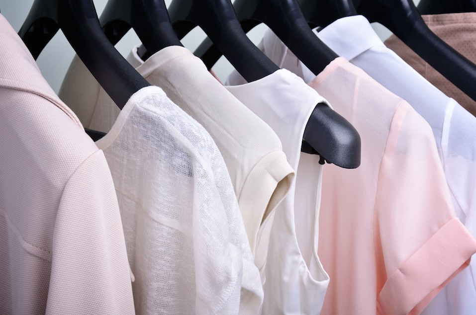 women's clothing on hangers