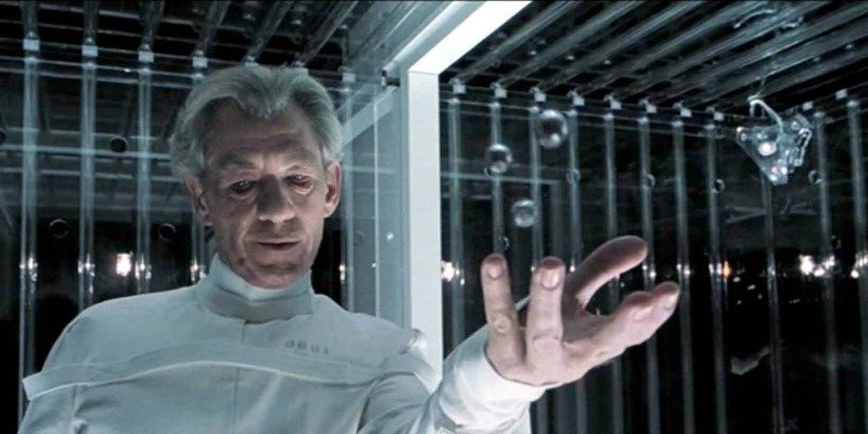 Magneto is in his cell and making marbles float.