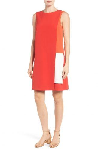 Halogen Colorblock Layered Shift Dress