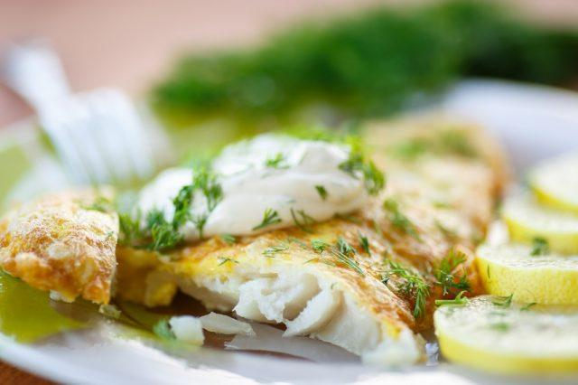 Baked or grilled fish is much healthier than fried fish.