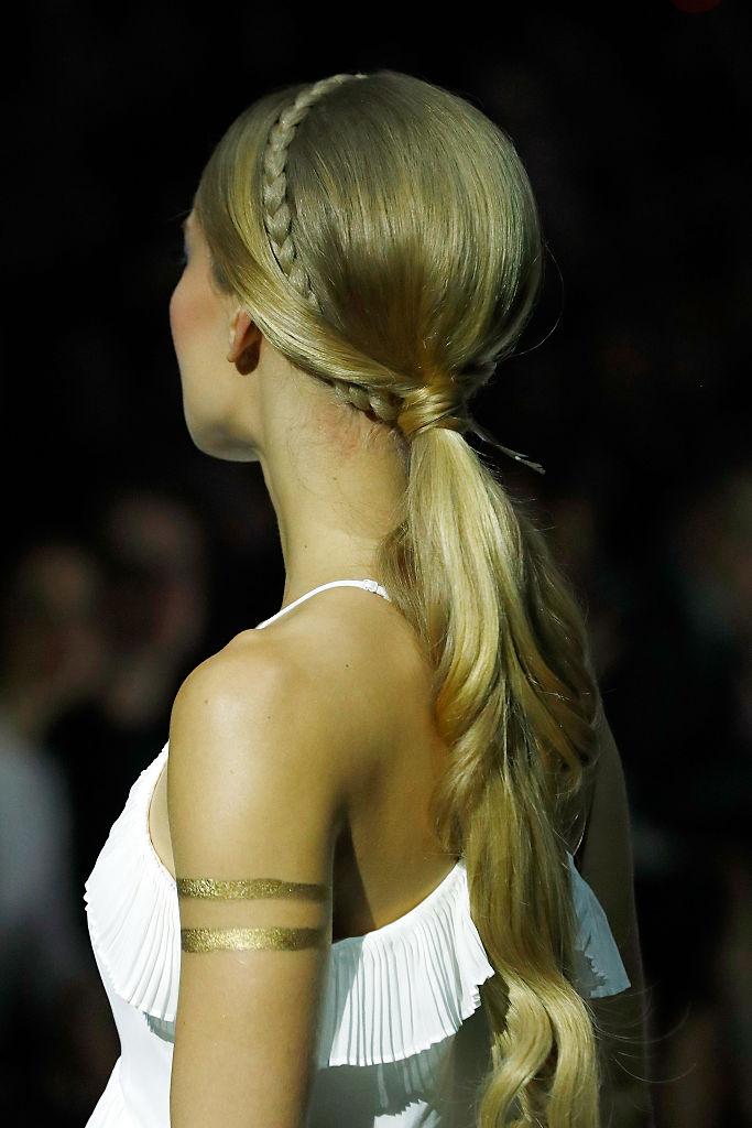 A model, hair detail
