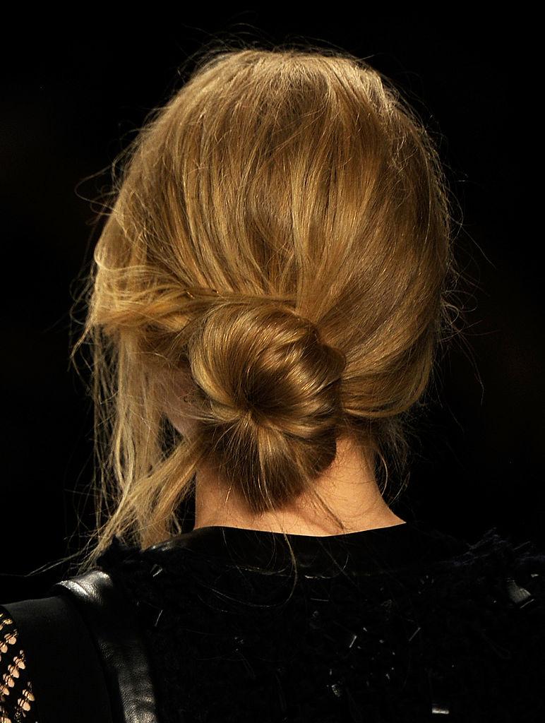 A model walks the runway at the Rebecca Minkoff Fall 2012 fashion show