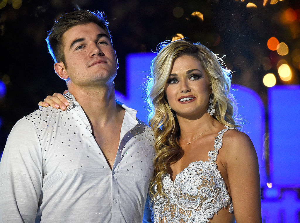 "Lindsay Arnold with her partner on ABC's ""Dancing With The Stars"""