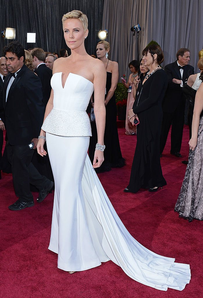 Actress Charlize Theron arrives at the Oscars