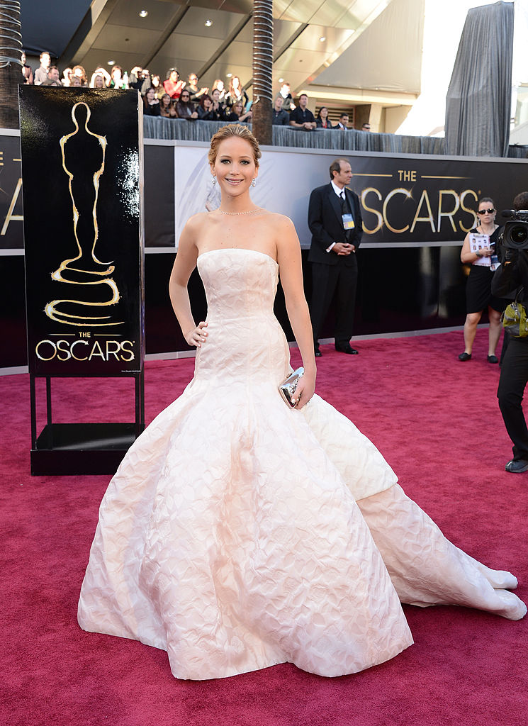 Actress Jennifer Lawrence arrives at the Oscars