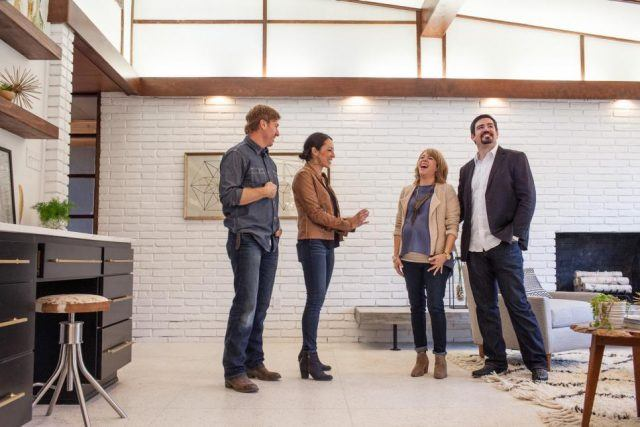 As seen on Fixer Upper, Joanna Gaines tells the Barretts a funny story about installing the gold fixtures in the house.