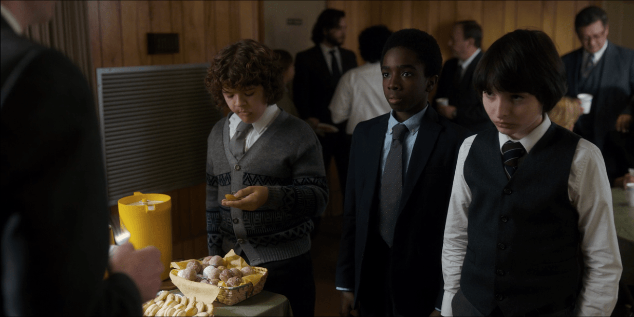 At Will's funeral on 'Stranger Things,' attendees had donuts holes and cookies