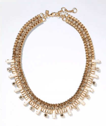 Mother of Pearl Baguette Necklace