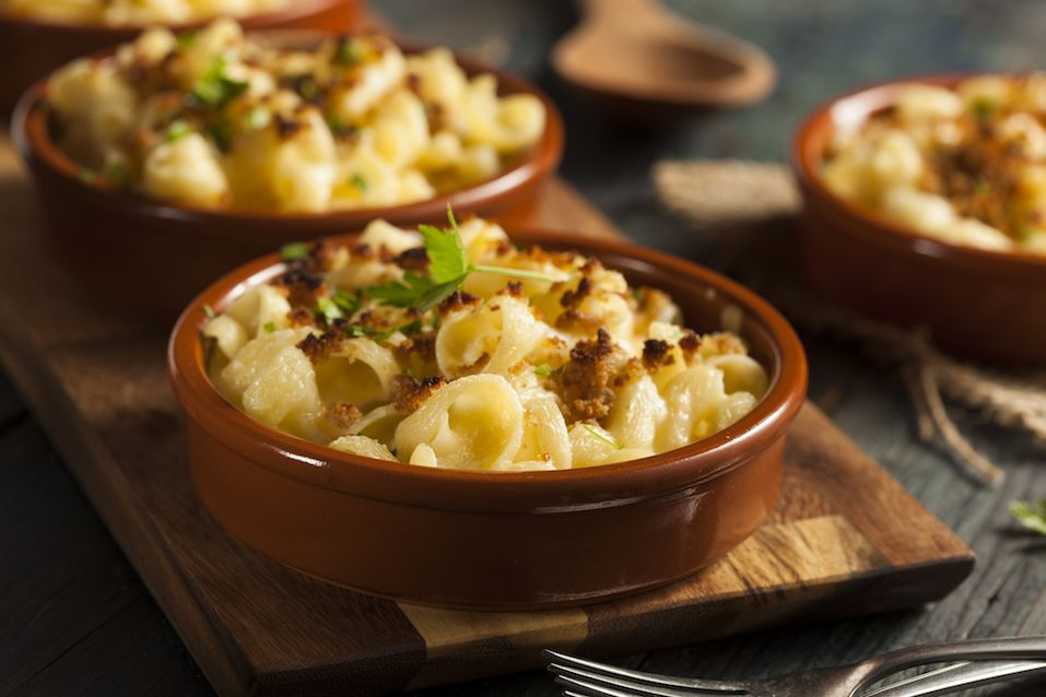 Baked Homemade Macaroni and Cheese with Parsley