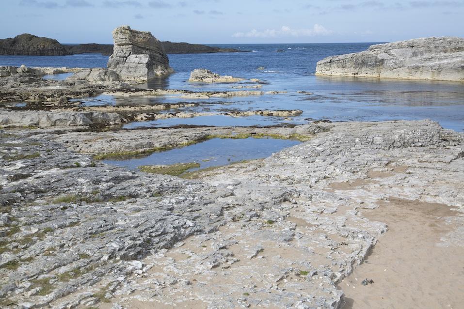 Ballintoy Harbour Beach; County Antrim; Northern Ireland, UK