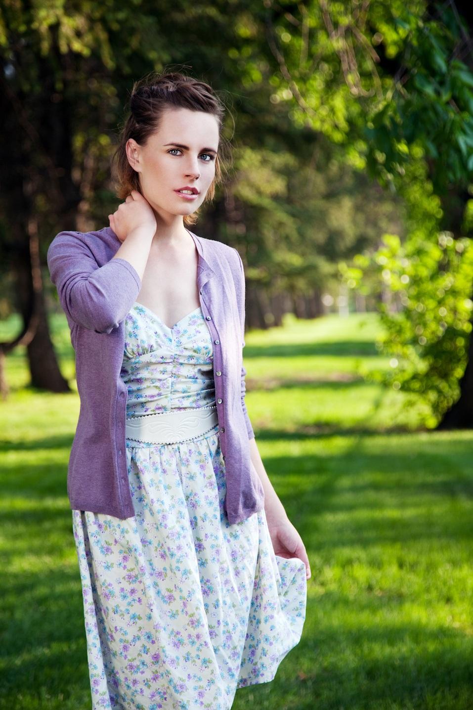 woman in a dress