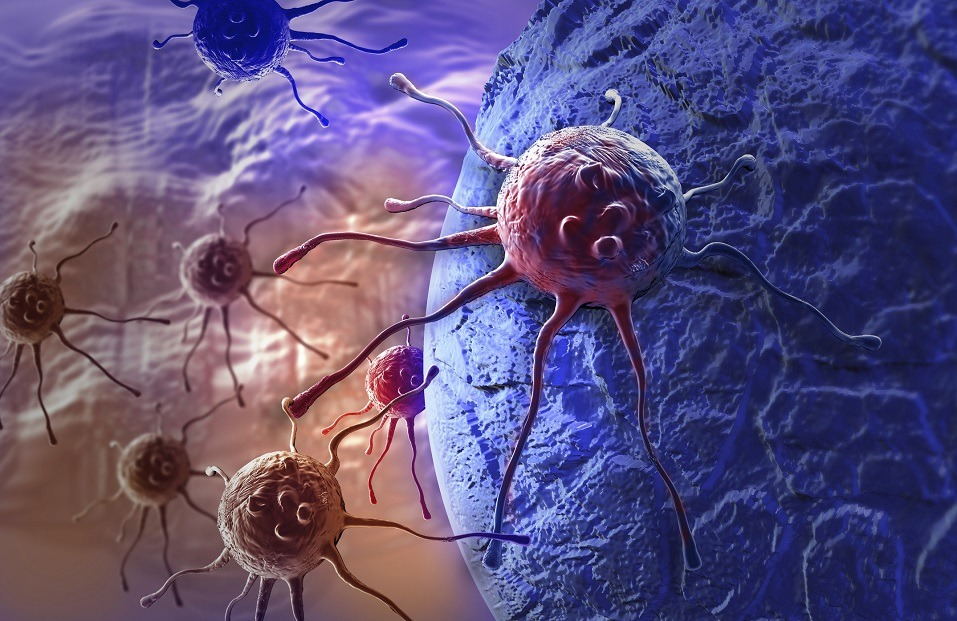 Cancer cell made in 3d software
