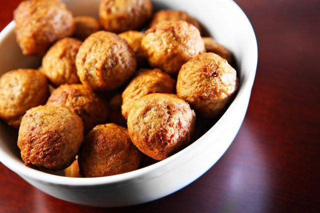 Swedish meatballs by themselves are en excellent source of protein.