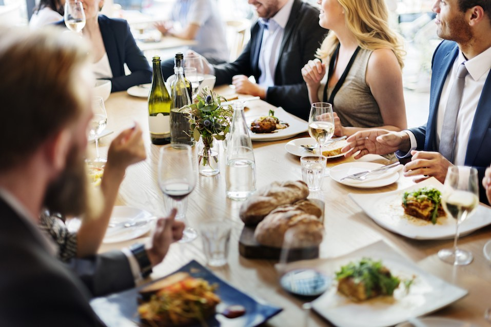 group dines out