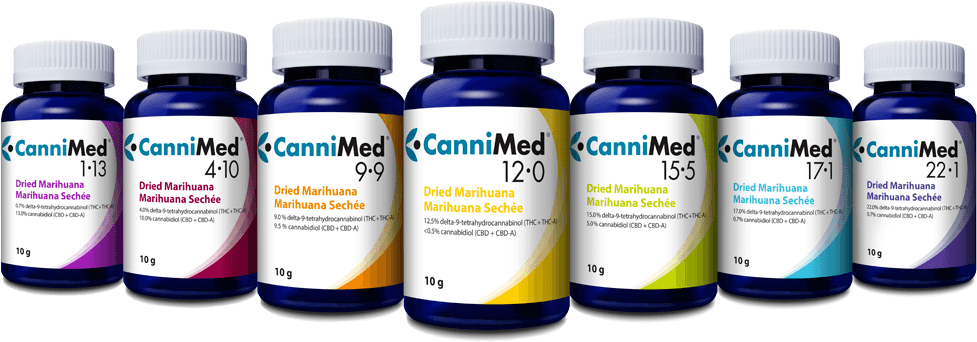 CanniMed products in bottles