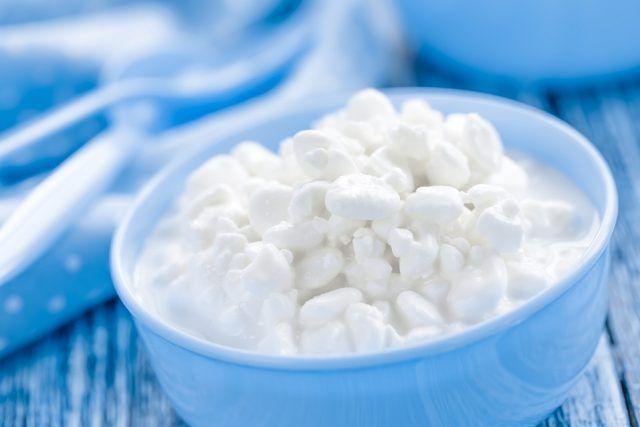Build muscle with high-protein foods like cottage cheese.