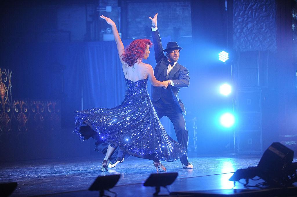 Sharna Burgess and Artem Chigvintsev perform