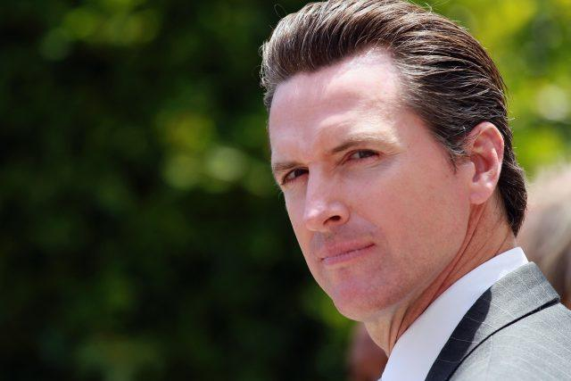 Gavin Newsom in a photo.