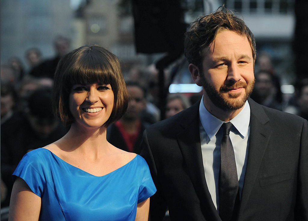Chris O'Dowd and Dawn Porter smiling together, dressed up on the red carpet
