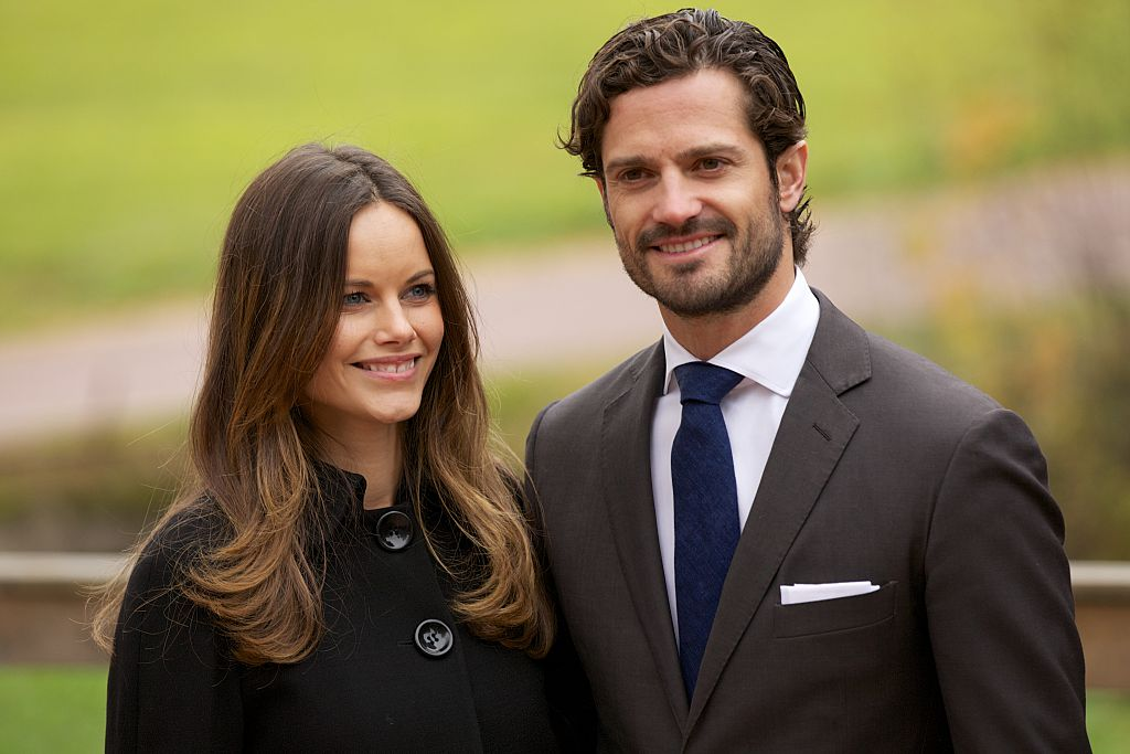 Princess Sofia and Prince Carl Philip smiling and posing for a photo together