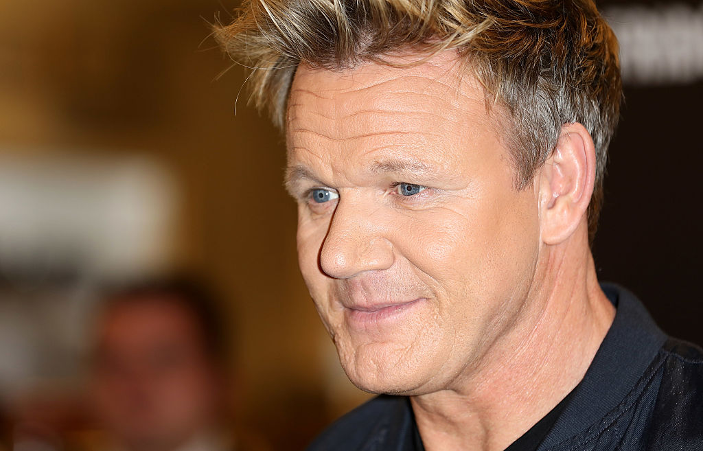 Gordon Ramsay poses for a photo prior to signing copies of his new book 'Bread Street Kitchen' at Selfridges