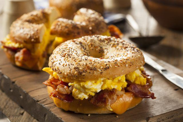 This breakfast sandwich could be a little meatier.