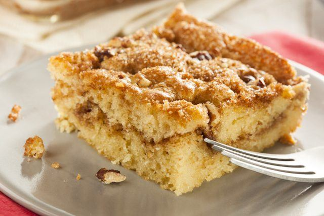 Coffee cake doesn't necessarily have to go with coffee.