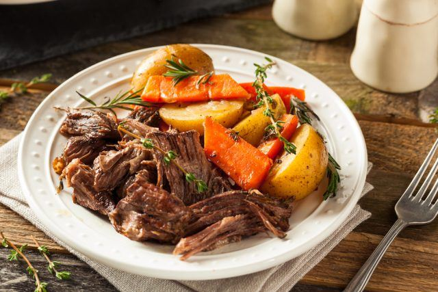 Let's say no thanks to frozen pot roast.