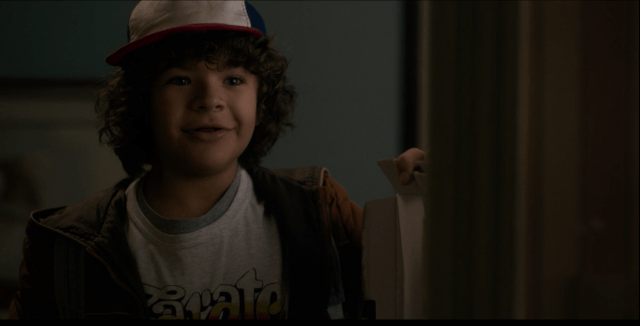 In 'Stranger Things,' Dustin offers Nancy the last slice of sausage and pepperoni pizza