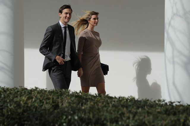 Jared Kushner and Ivanka Trump walking together