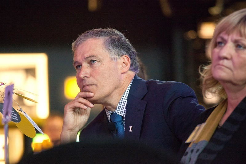 Washington Governor Jay Inslee attends a launch event