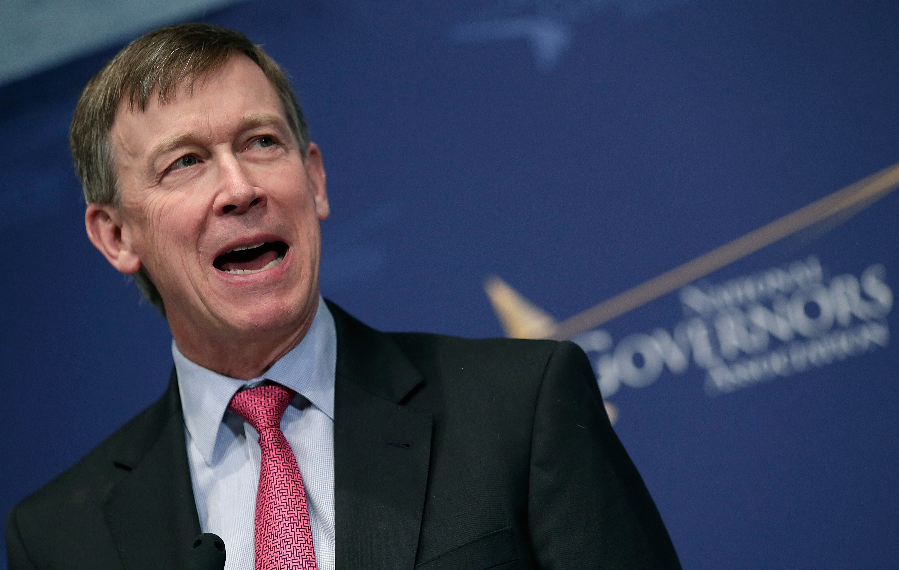 Colorado Governor John Hickenlooper, defender of legal marijuana in his state