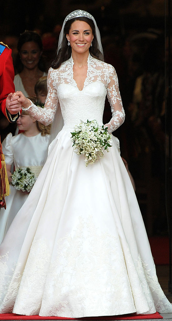 Kate, Duchess of Cambridge, comes out of Westminster Abbey