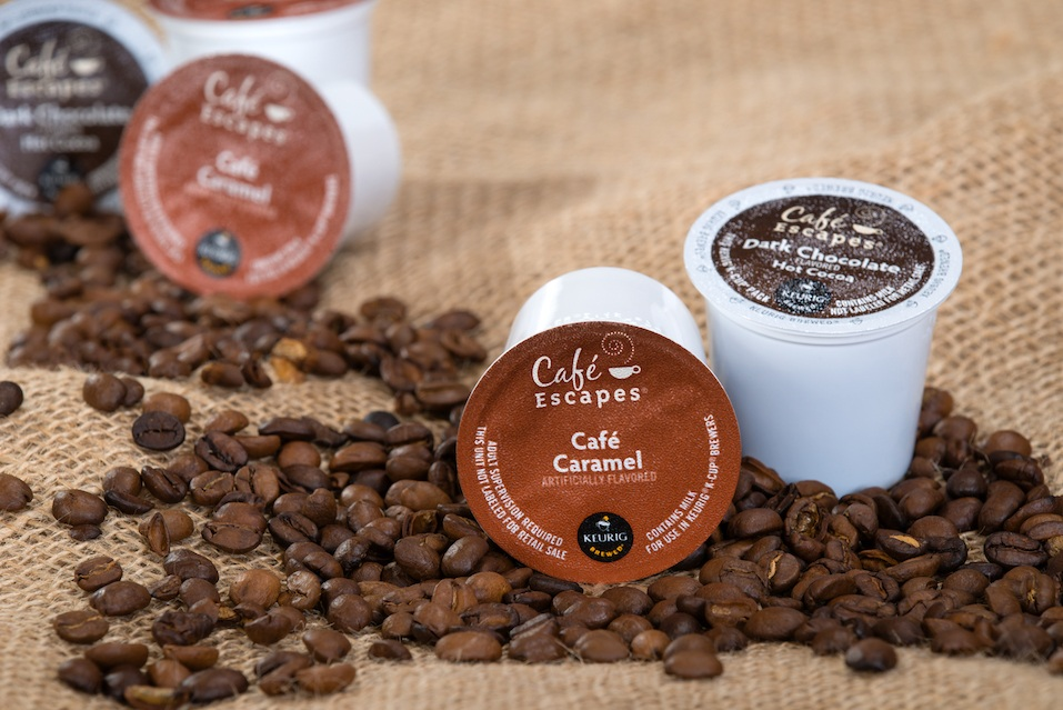 Keurig K-cups and coffee beans