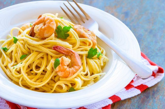 Pasta made from whole grains is slightly healthier.
