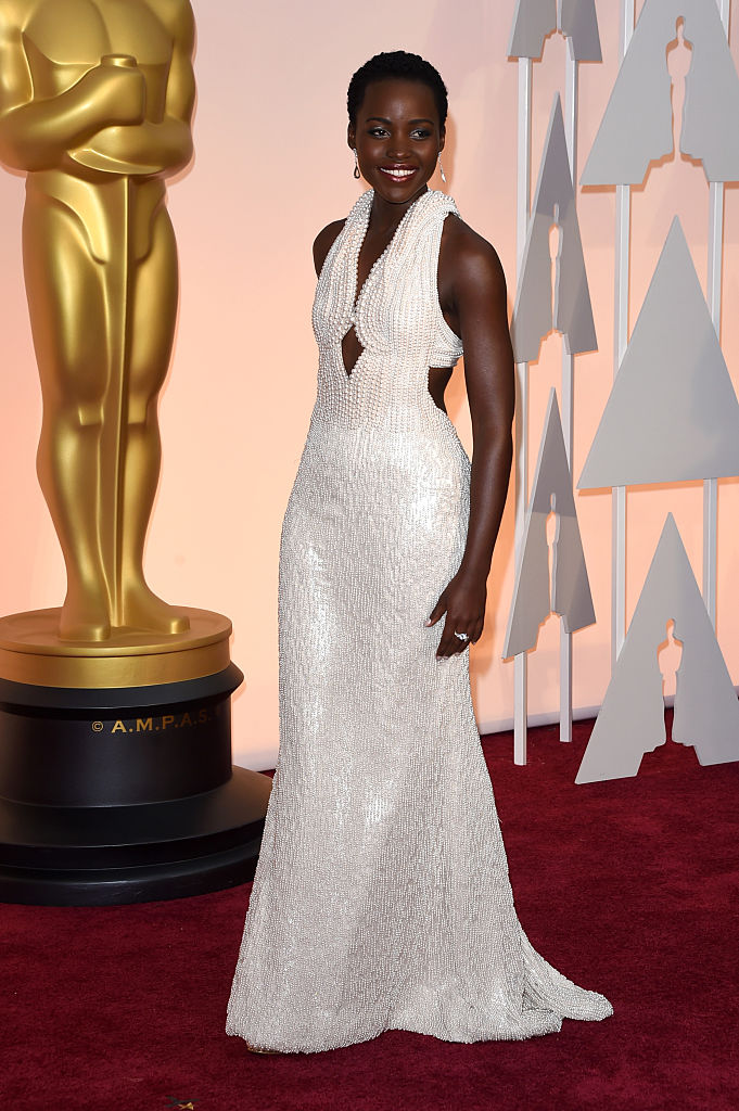 Actress Lupita Nyong'o attends the 87th Annual Academy Awards