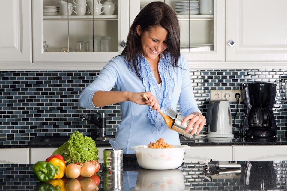 woman preparing dinner